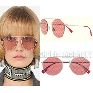 FENDI red EYELINE Logo lenses FF M0021S Sunglasses